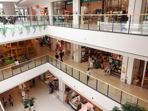 ショッピングモール写真(ショッピング施設の例)